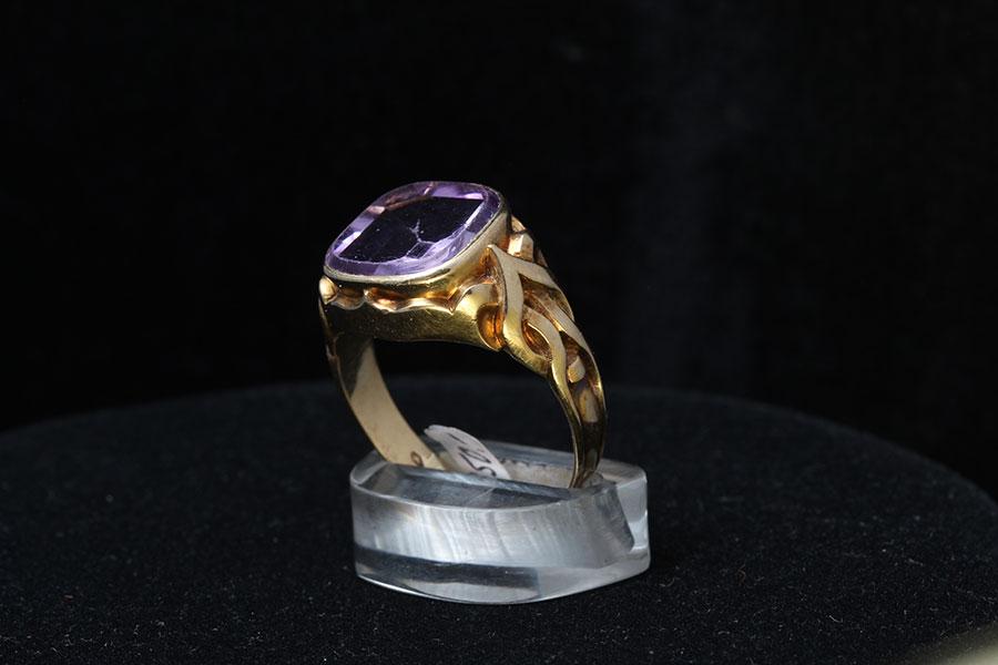 Herrenschmuck  Amethyst Ring 1930 · Kunst Galerie Antiquitäten Schmuck Collier ...